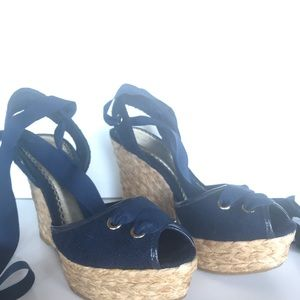 Bebe Espadrilles Navy Blue Sandals